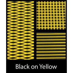 HYDROTURF SHEET BLACK ON YELLOW
