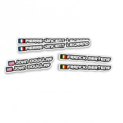 NAME/COUNTRY STICKER