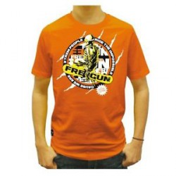 TSHIRT FREEGUN ORANGE SNOWLIFE