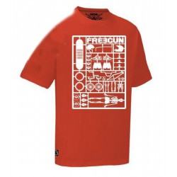 FREEGUN TSHIRT RED MAQUETTE