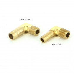 BRASS FITING 90 DEG 1/4""